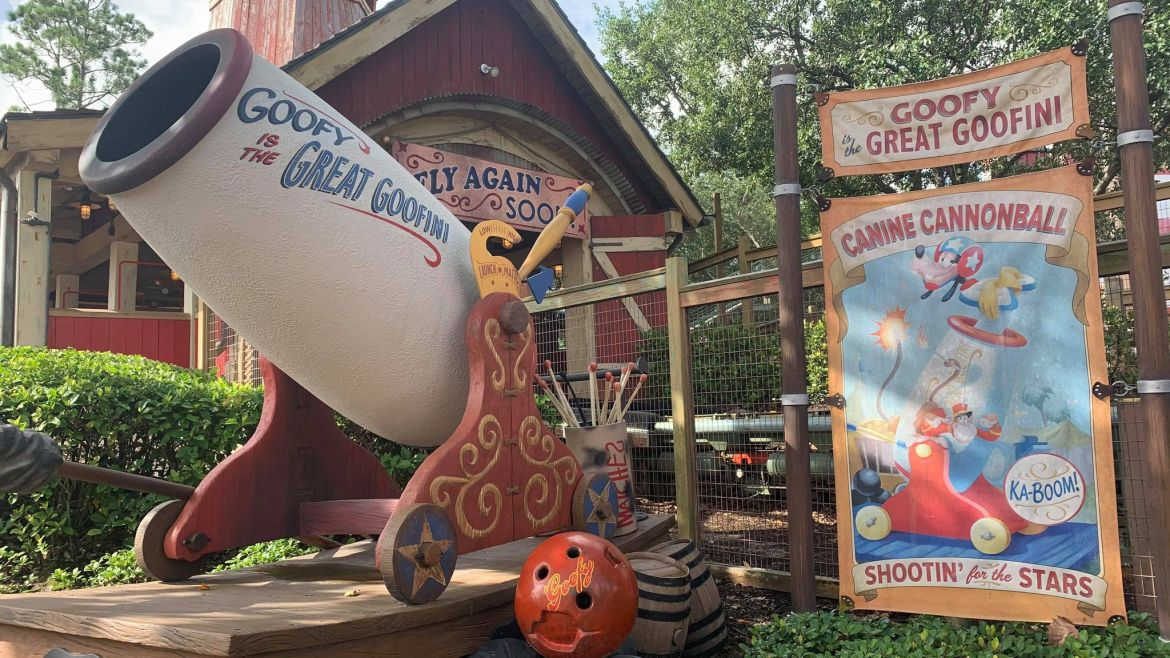 Goofy's Barnstormer gets a fresh coat of paint for 50th Anniversary