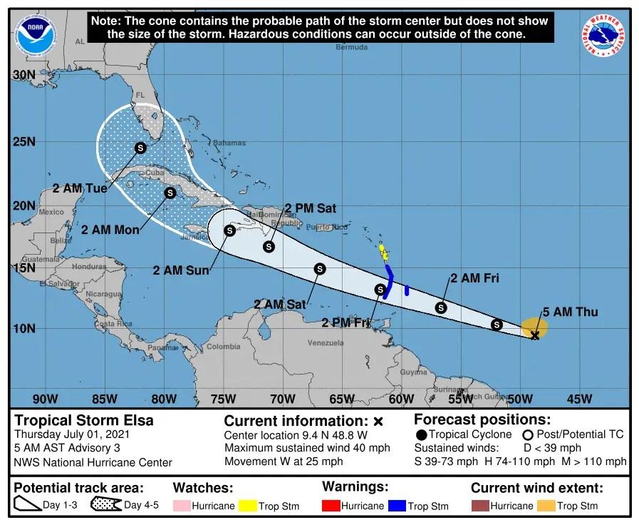 Tropical Storm Elsa sets her eye on Florida 3