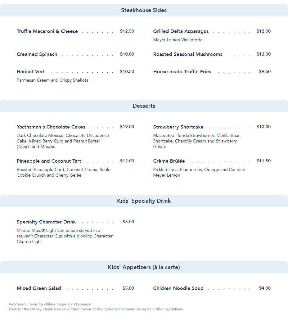 Yachtsman Steakhouse reopens on Aug 5th with an updated menu 4