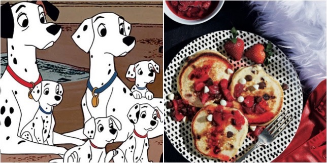 Dalmatian Pancakes With Strawberry Compote To Start Your Day!