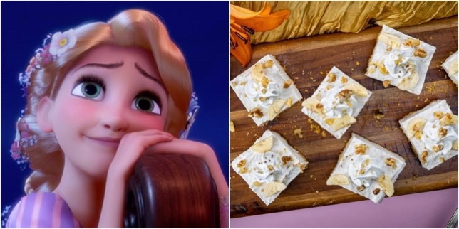These Rapunzel Golden Cheesecake Banana Bars Are Our New Dream!