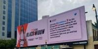 Marvel Fan's Dream Comes True After Tweet is Featured on a 'Black Widow' Billboard 9