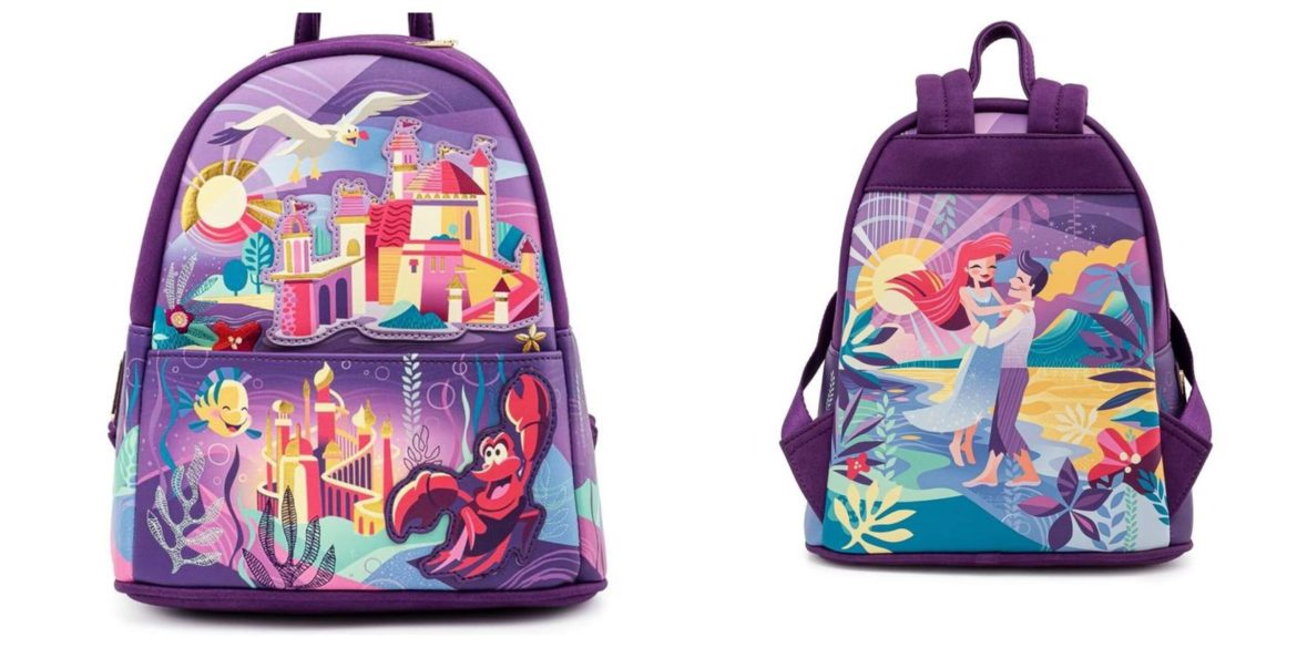 Disney's The Little Mermaid Castle Mini Backpack From Loungefly Now Available To Pre-Order