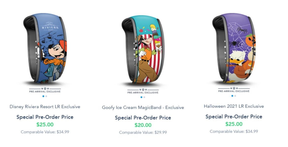 New Pre-Arrival Exclusive MagicBands on Disney World Website
