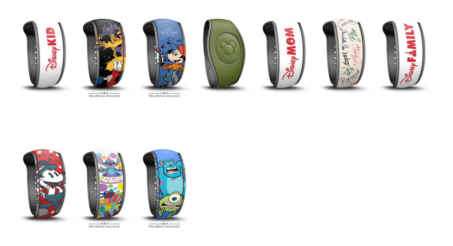 New Pre-Arrival Exclusive MagicBands on Disney World Website 10