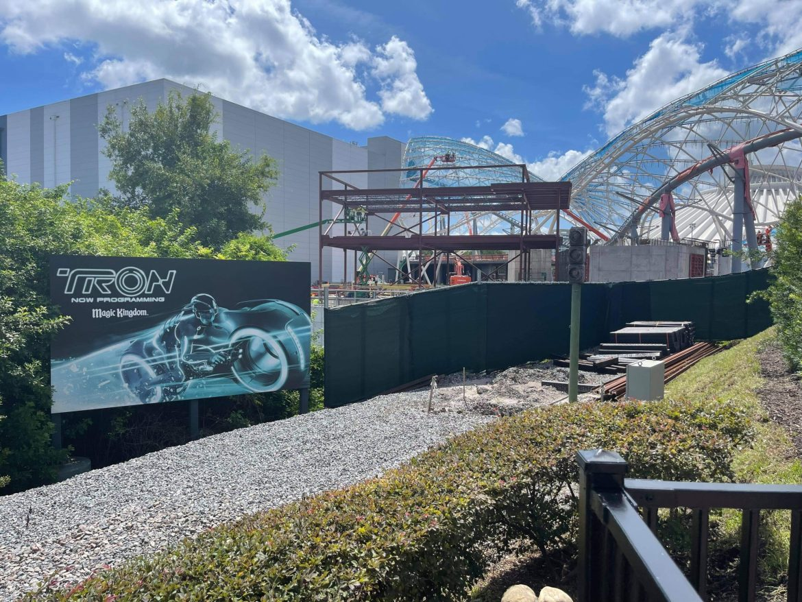 New building being added for Tron Lightcycle Run in the Magic Kingdom