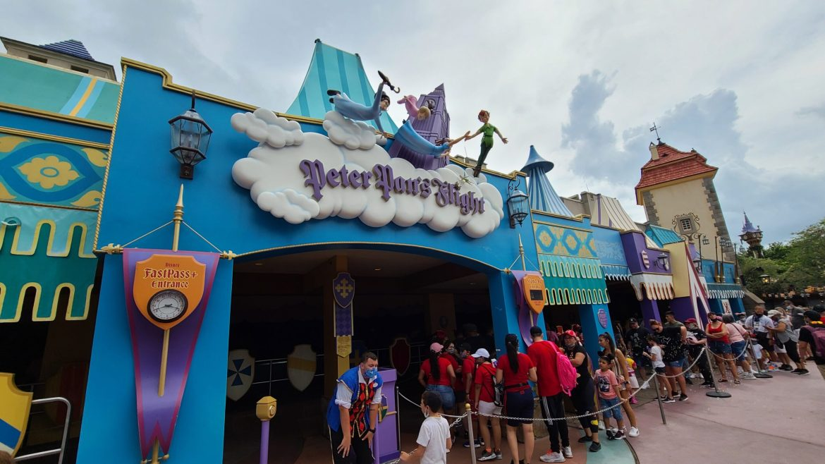 Peter Pan's Flight gets a new sign in the Magic Kingdom