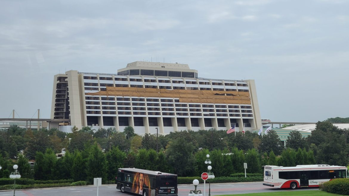 Construction continues on the Inside and Outside of Disney's Contemporary Resort