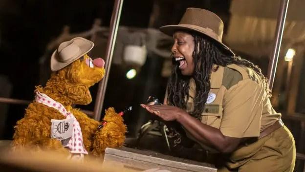 Fozzie Bear meets his comedic match a Jungle Cruise Skipper