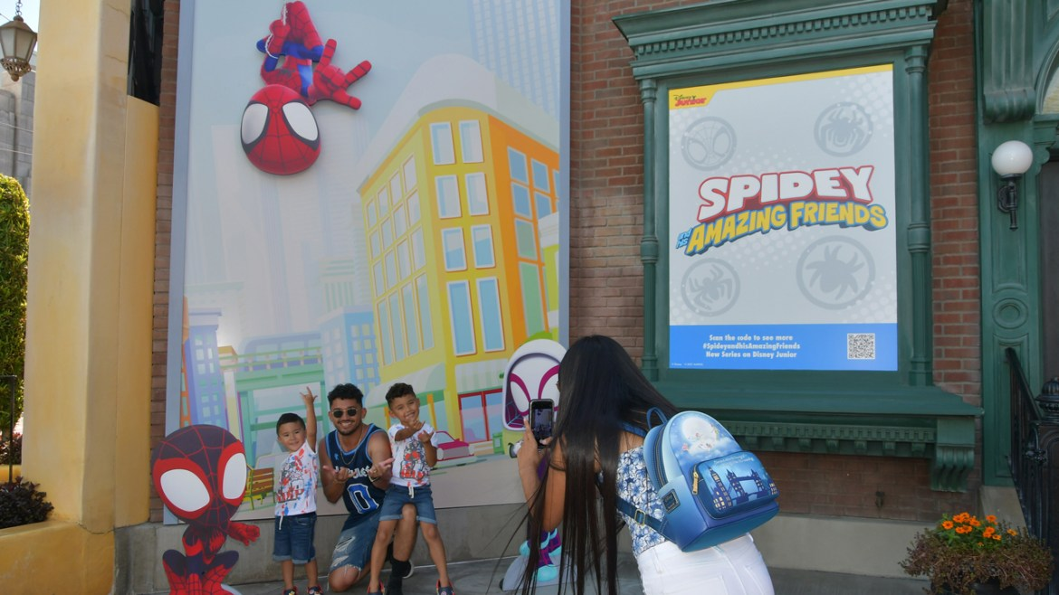 New Disney Junior 'Spidey and his Amazing Friends' Photo Wall at Disney
