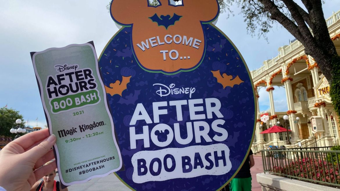 First Look: Disney After Hours Boo Bash Map revealed for 2021