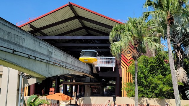 Disney's Polynesian Resort Monorail Station is now in operation 4