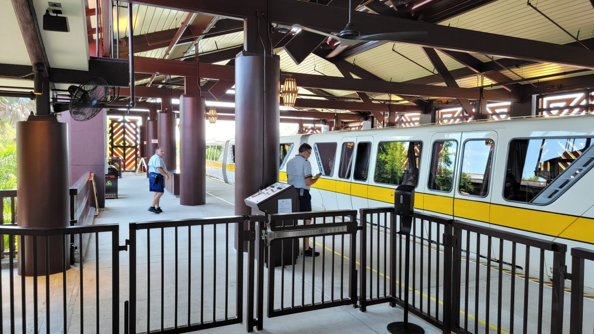 Disney's Polynesian Resort Monorail Station is now in operation