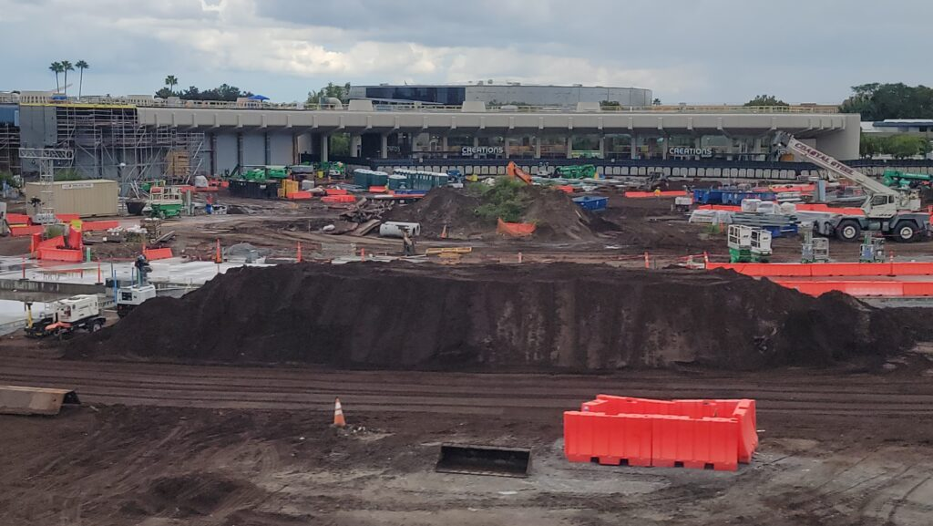 New Aerial look at the Construction around Epcot 1