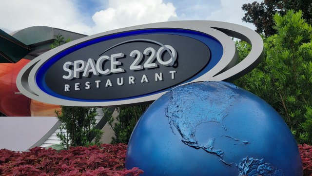 Signage installed for Space 220 Resaurant in Epcot