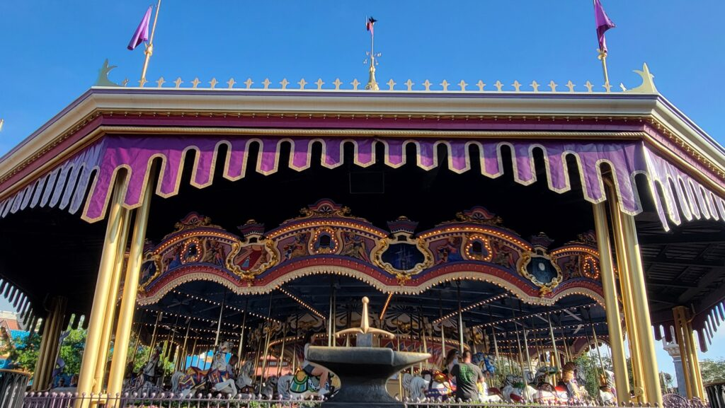 50th Anniversary Gold Trim added to Prince Charming Regal Carrousel 1