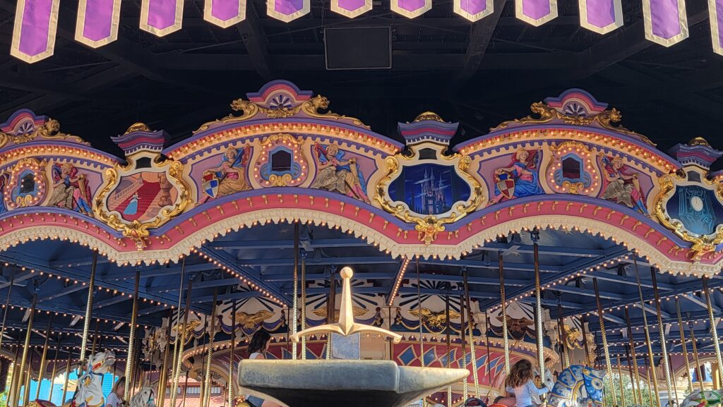 50th Anniversary Gold Trim added to Prince Charming Regal Carrousel 2