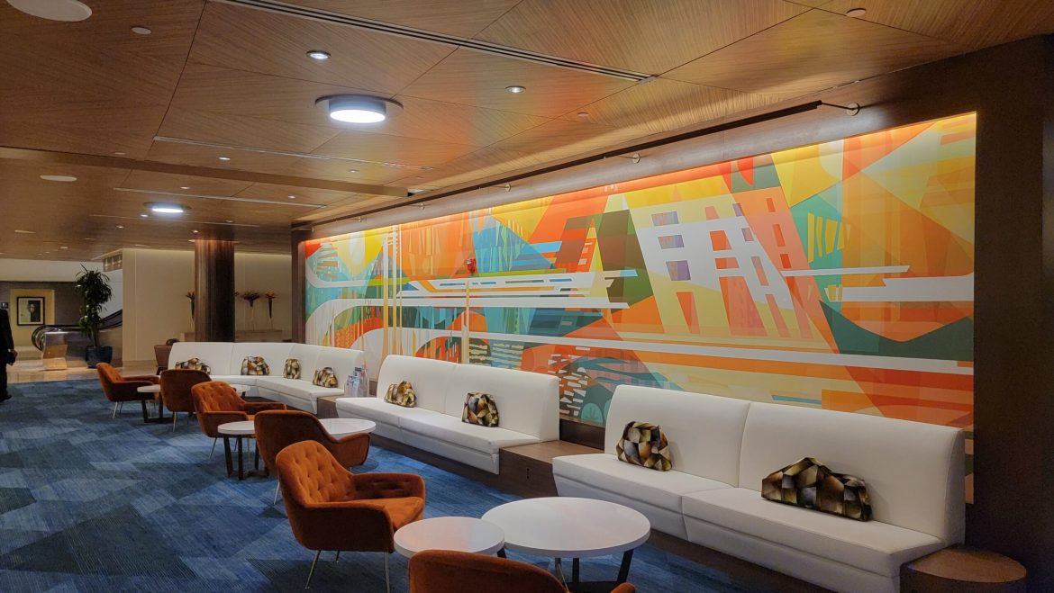 Disney's Contemporary Resort Lobby Construction is now complete