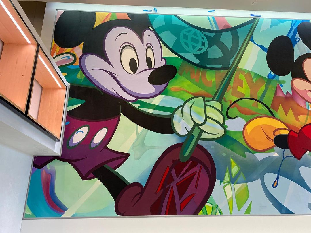 New Mickey Mural sneak peek from Epcot's Creations Shop 1