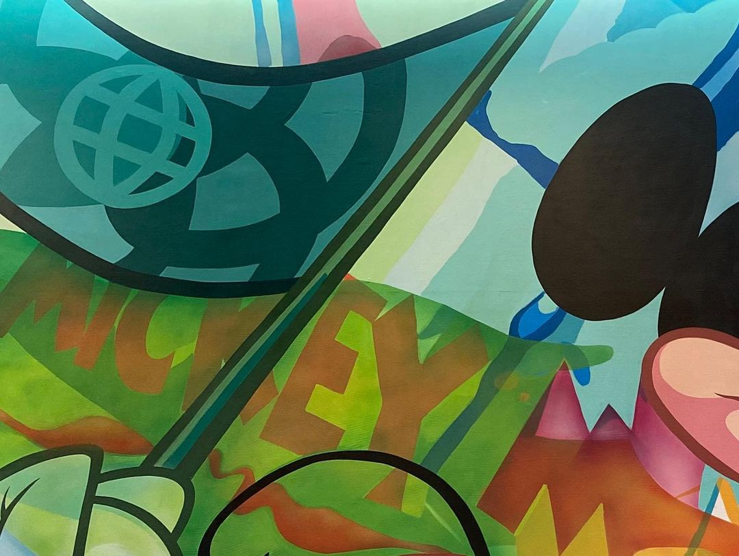 New Mickey Mural sneak peek from Epcot's Creations Shop 2