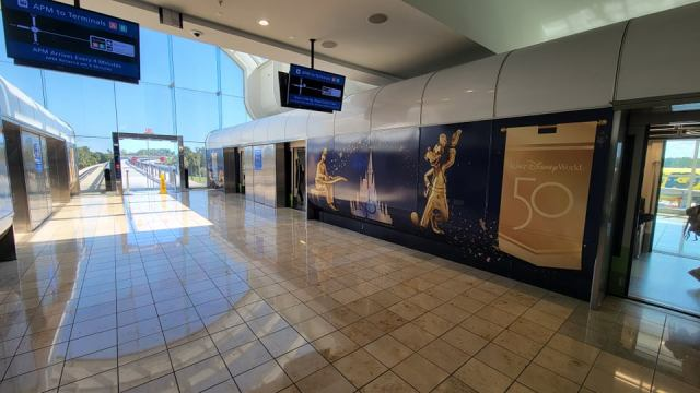 Disney World 50th Anniversary decorations are now at the Orlando Airport 3