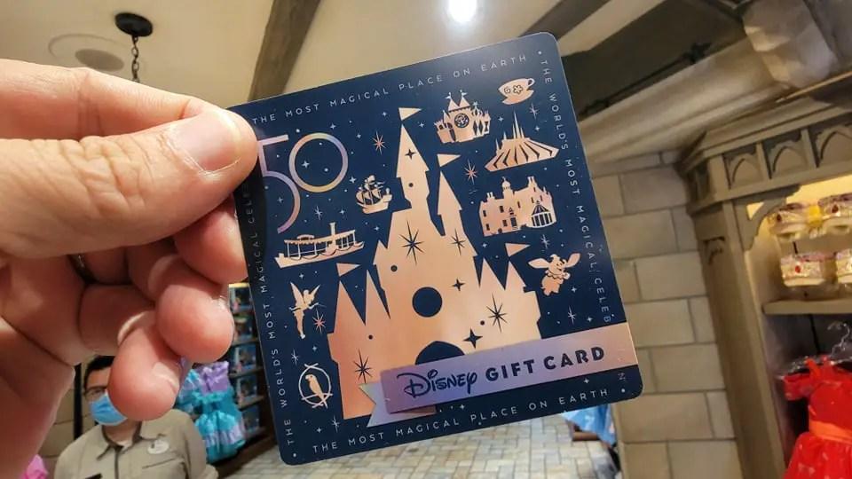 Walt Disney World 50th Anniversary Gift Cards