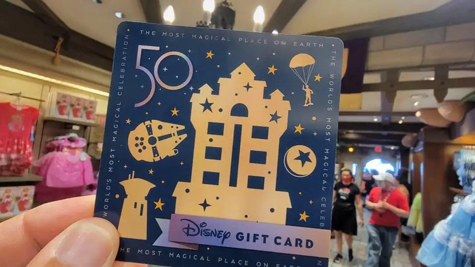 Walt Disney World 50th Anniversary Gift Cards 3