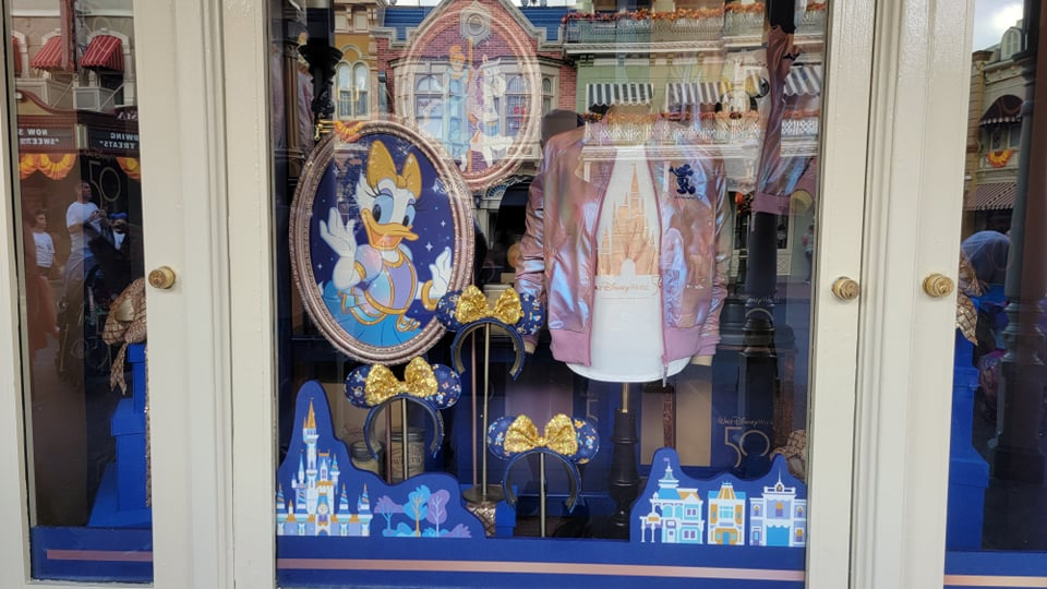Disney World 50th Anniversary Window Displays Now at the Magic Kingdom 2