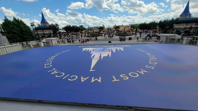 Magic Kingdom's 50th Anniversary Stage being built ahead of Anniversary 5