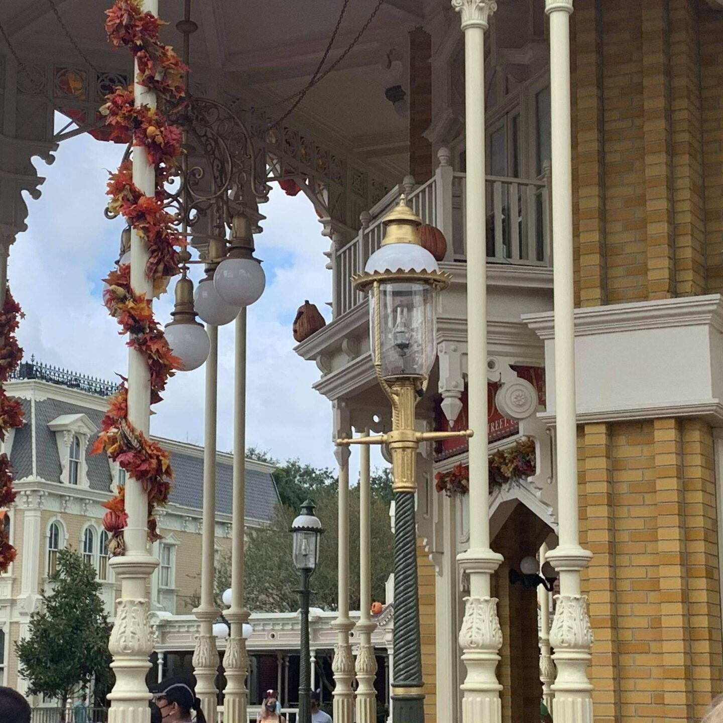 Golden Lampposts installed in the Magic Kingdom for Disney World's 50th 5