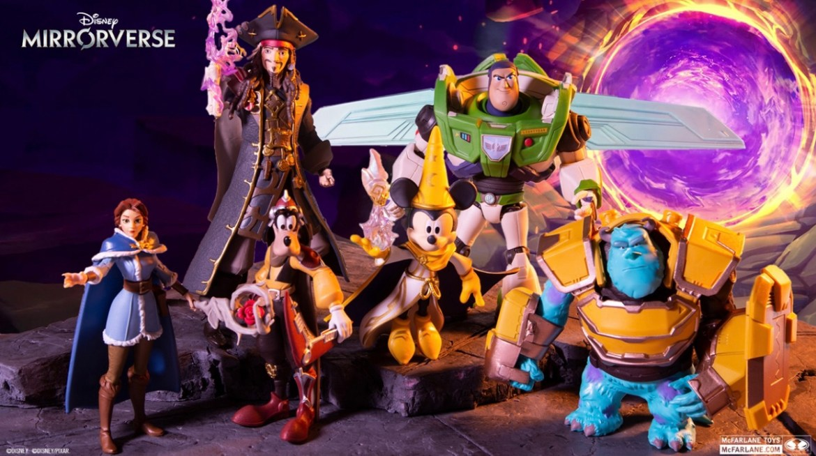 First Look at Disney Mirrorverse with New McFarlane Collectible Figures
