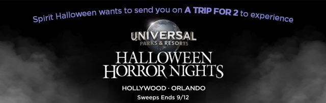 Spirit Halloween offering a free trip for 2 to experience Halloween Horror Nights 1