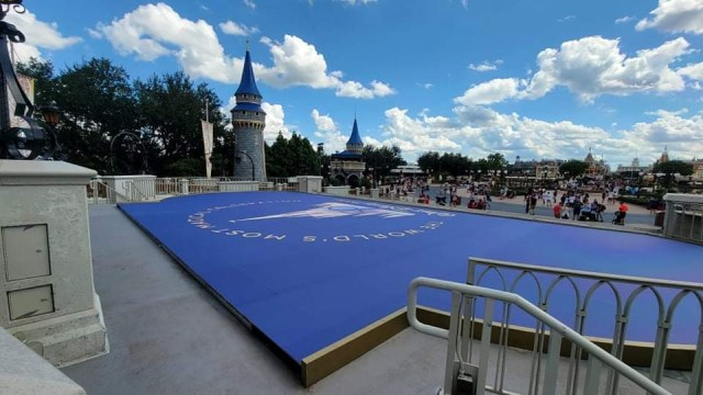 Magic Kingdom's 50th Anniversary Stage being built ahead of Anniversary 4