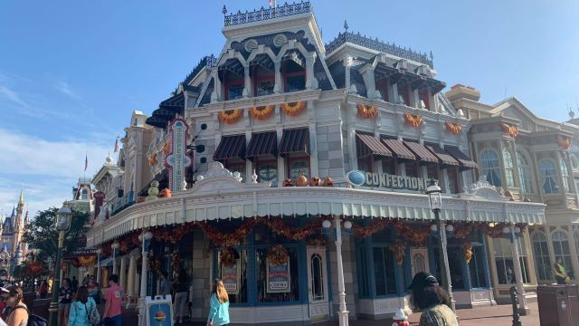 Walls Are Down Around Main Street Confectionery in the Magic Kingdom 1