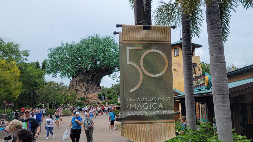 50th Anniversary Banners Now on Display in Disney's Animal Kingdom 4