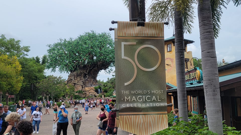 50th Anniversary Banners Now on Display in Disney's Animal Kingdom