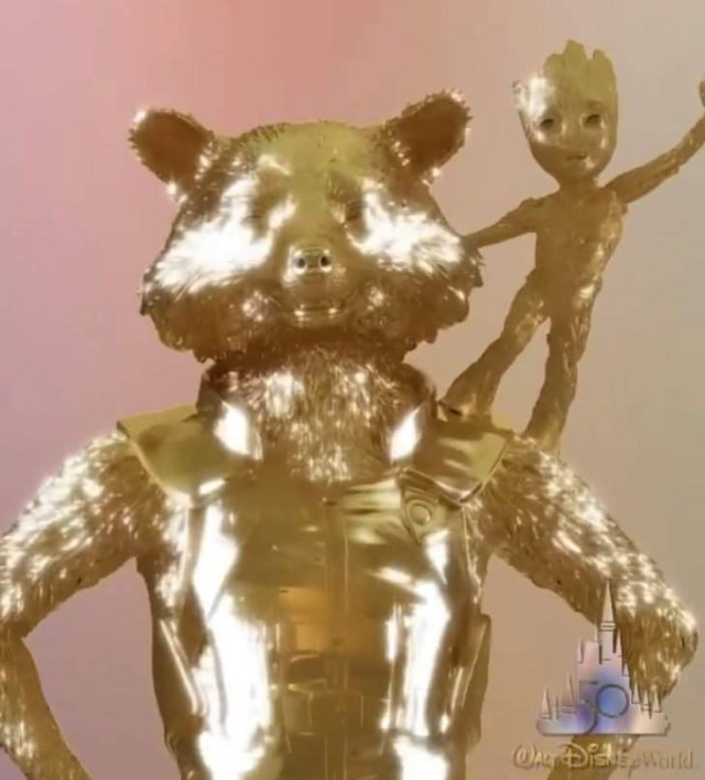 Rocket & Groot Join Disney Fab 50 Character Statues at EPCOT 2