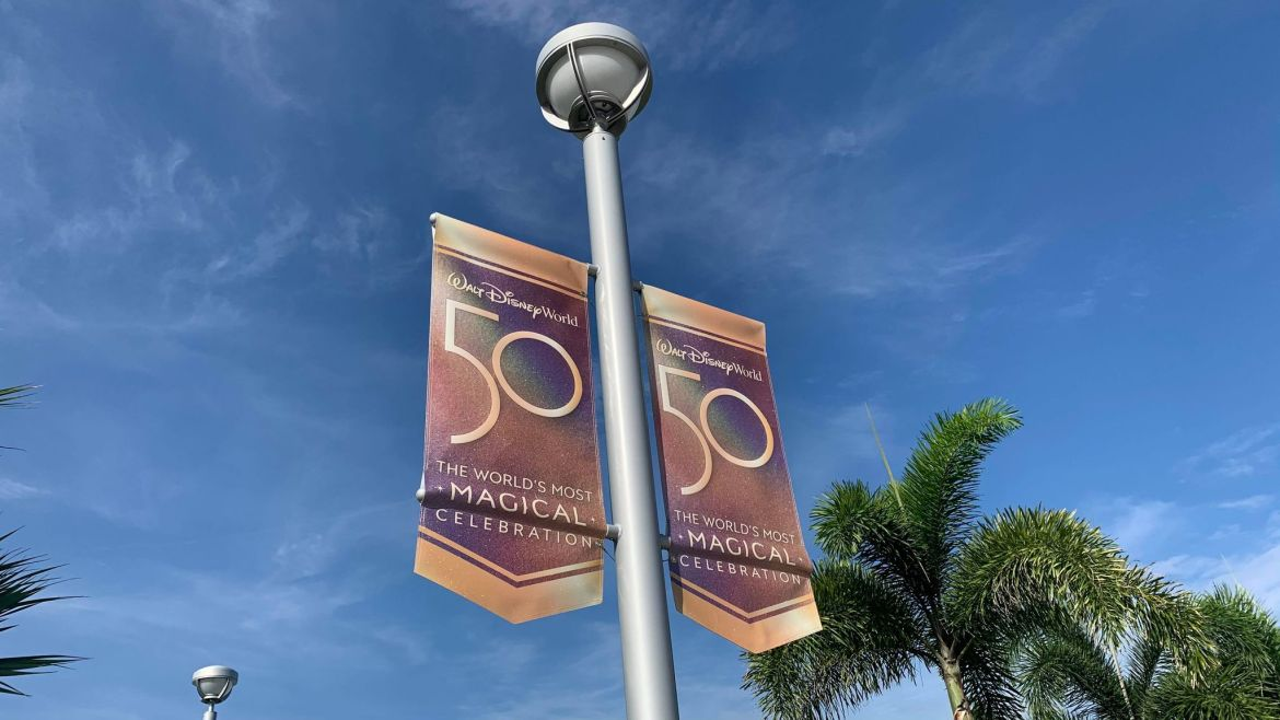 Disney World 50th Anniversary Banners Now Up at Hollywood Studios