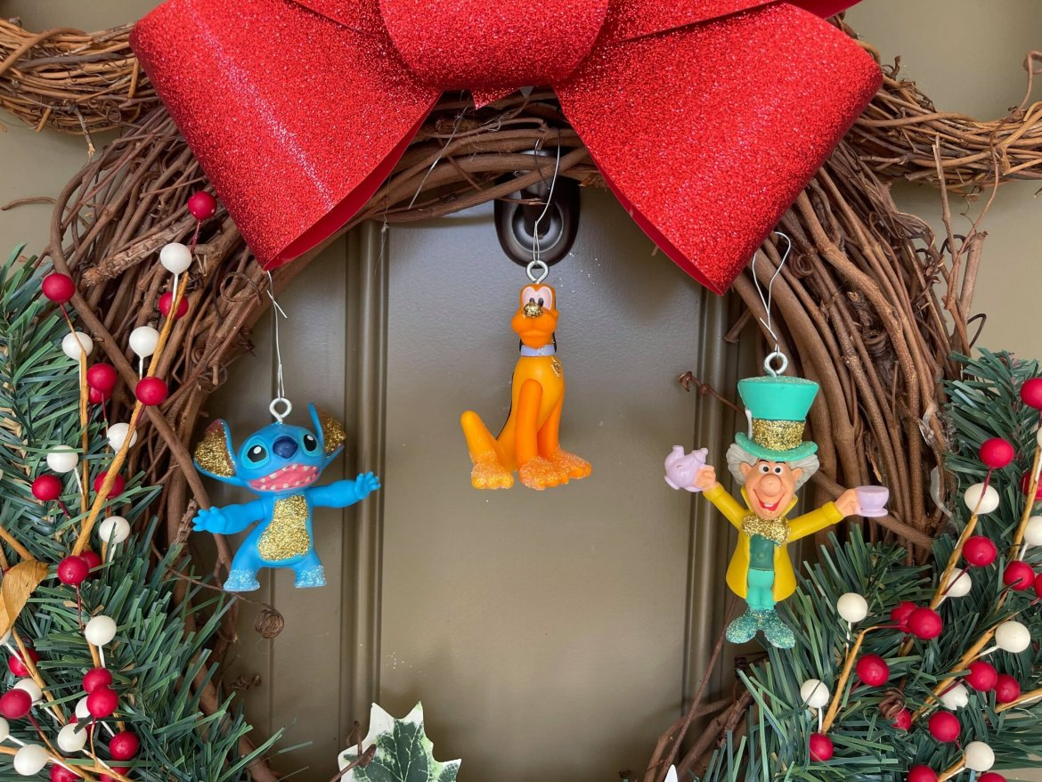 Turning Disney World 50th Happy Meal Toys into Christmas Ornaments