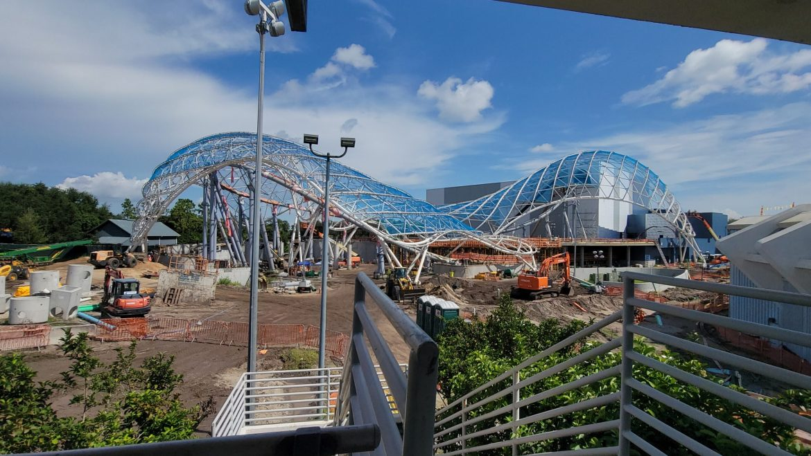 Get a Bird's Eye View of the Contstruction for TRON Lightcycle Run