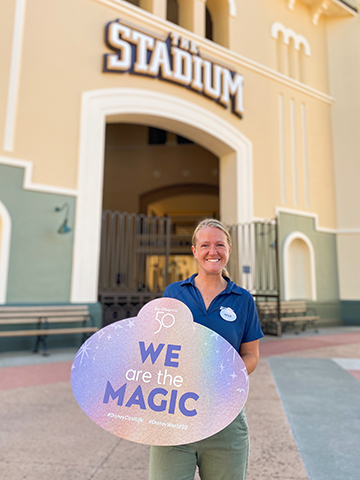 Disney World Cast Members receive new 50th Anniversary Name Badges 13