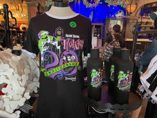 New Haunted Mansion Holiday 20th Anniversary Merch materializes in Disneyland 1