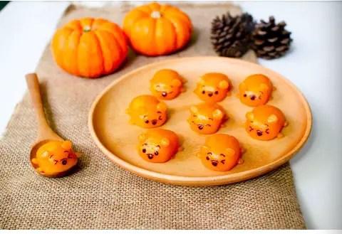 Winnie the pooh pumpkin bites
