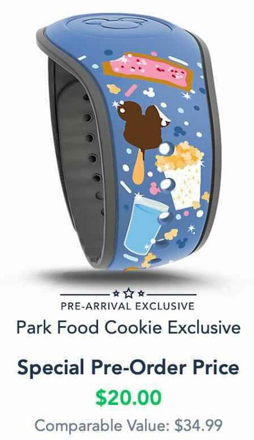 Pre Arrival Park Food MagicBand now available on Disney World website 2