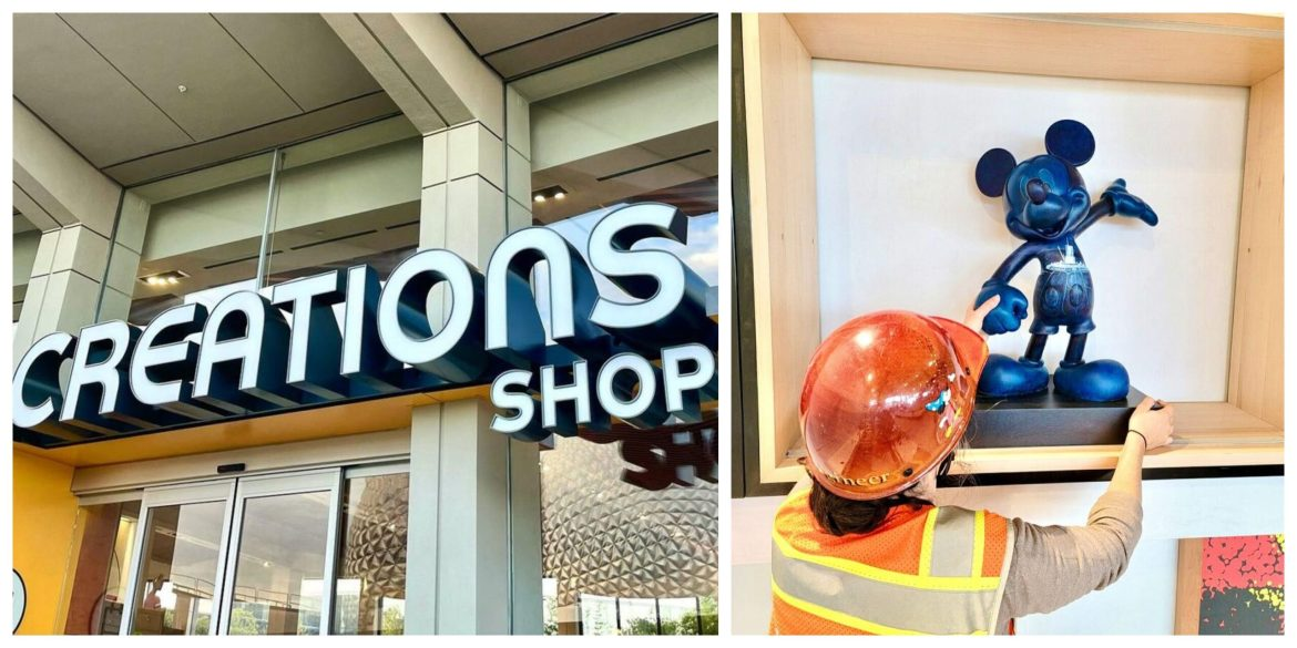 Sneak Peek of the Mickey Sculptures Coming to the Creations Shop in Epcot