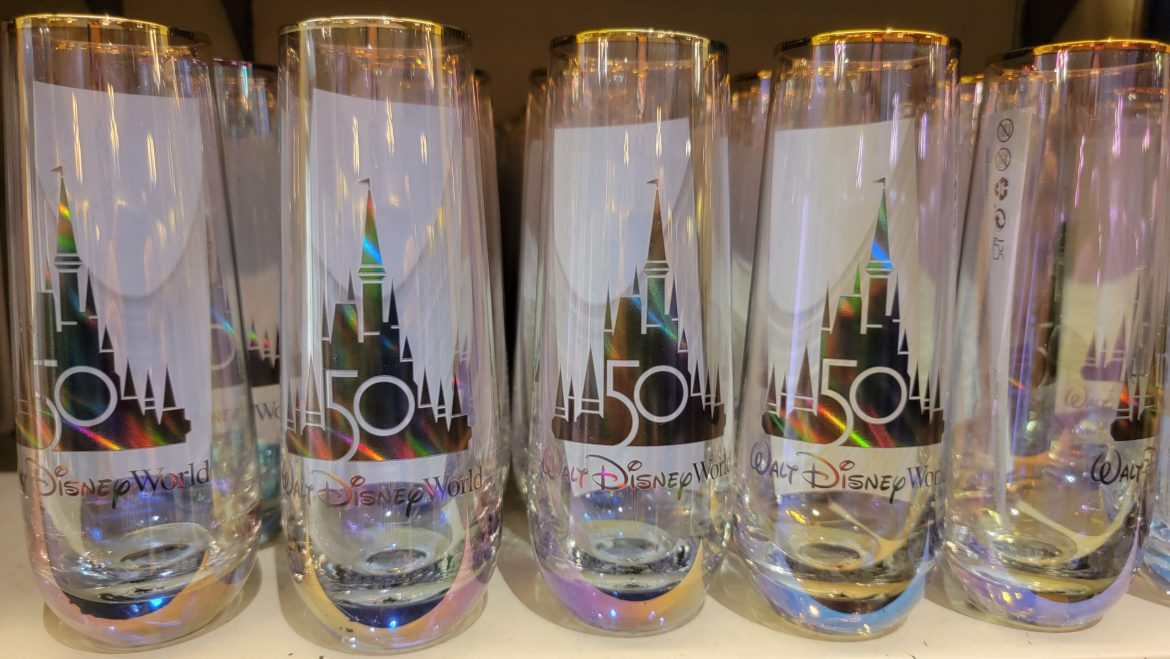 Celebrate in style with this Disney World 50th Anniversary Glass
