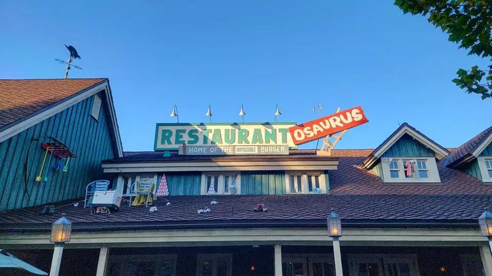 Restaurantosaurus in Disney's Animal Kingdom now sponsored by Impossible Foods