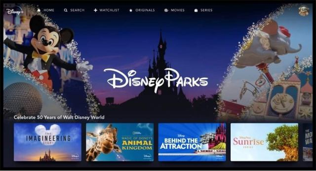 Walt Disney World 50th Anniversary Special Added to Disney Parks Category on Disney+ 1