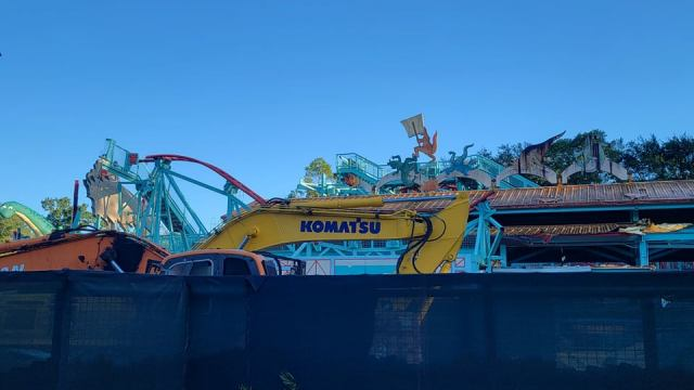 Primeval Whirl in Disney's Animal Kingdom demolition progress 1