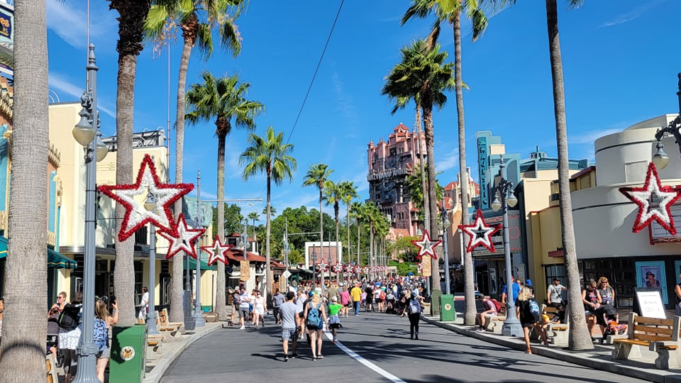 Christmas Decorations have already popped up at Hollywood Studios